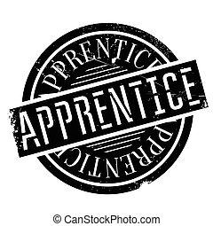 Apprentice rubber stamp - Apprentice stamp. Grunge design...