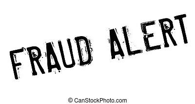 Fraud alert rubber stamp. Grunge design with dust scratches....
