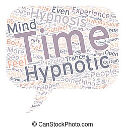 Can you be hypnotized text background wordcloud concept