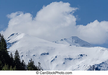 mountains with snow in summer - high mountains with snow in...