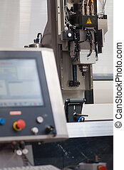 CNC industrial drill with command console