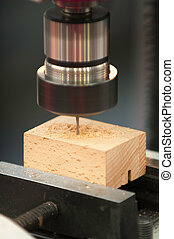 Drill press close-up