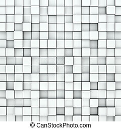 Wall of white cubes background.