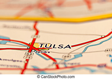 tulsa oklahoma area map