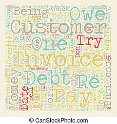 Cashflow Problems How To Get Your Money text background wordcloud concept