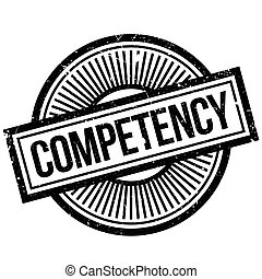 Competency rubber stamp - Competency stamp. Grunge design...