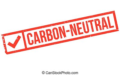 Carbon-neutral rubber stamp - Carbon-neutral stamp. Grunge...