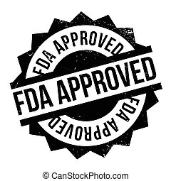 Fda approved stamp. Grunge design with dust scratches....