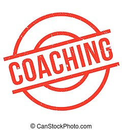 Coaching rubber stamp - Coaching stamp. Grunge design with...