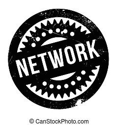Network rubber stamp - Network stamp. Grunge design with...