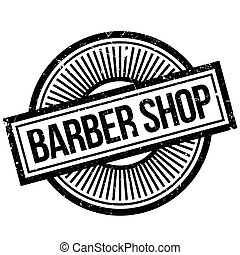 Barber shop stamp. Grunge design with dust scratches....