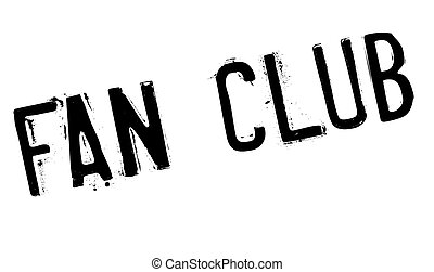 Fan club stamp. Grunge design with dust scratches. Effects...