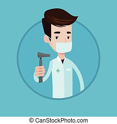 Ear nose throat doctor vector illustration. - Ear nose...