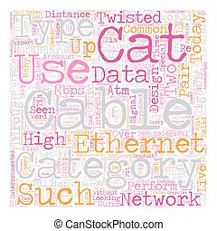 Category Cable Category e Cable text background wordcloud...
