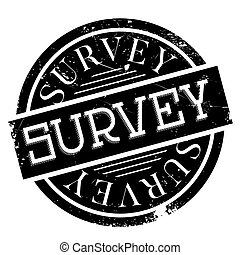 Survey rubber stamp - Survey stamp. Grunge design with dust...