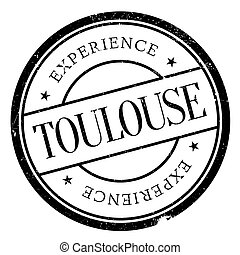 Toulouse stamp rubber grunge - Toulouse stamp. Grunge design...