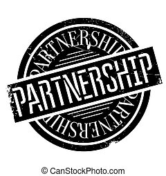 Partnership rubber stamp - Partnership stamp. Grunge design...