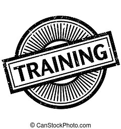Training rubber stamp - Training stamp. Grunge design with...