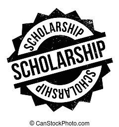 Scholarship rubber stamp - Scholarship stamp. Grunge design...