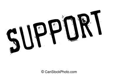 Support rubber stamp - Support stamp. Grunge design with...