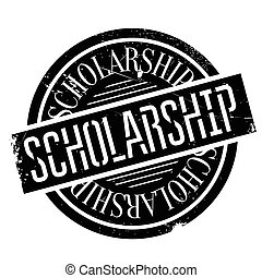 Scholarship rubber stamp - Scholarship stamp. Grunge design...