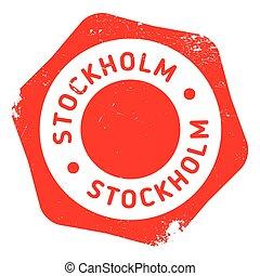Stockholm stamp rubber grunge - Stockholm stamp. Grunge...