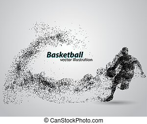 Basketball player from particles.