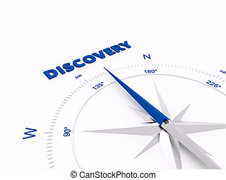 Compass - a 3d rendering maded compass on a white screen