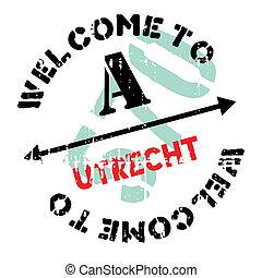 Utrecht stamp rubber grunge - Utrecht stamp. Grunge design...