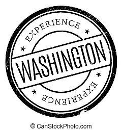 Washington stamp rubber grunge - Washington stamp. Grunge...