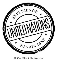 United Nations stamp. Grunge design with dust scratches....
