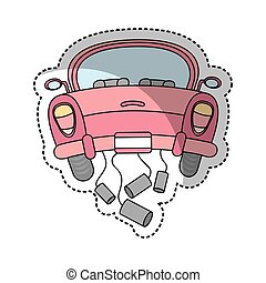 just married car isolated icon
