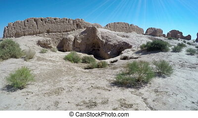 Fortress Kyzyl-kala in Karakalpakstan Biruni, the region of...