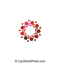 Digital colorful isolated circle logo template. Stylized...