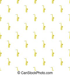 Saxophone pattern, cartoon style