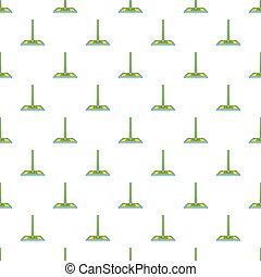 Floor cleaning mop pattern, cartoon style