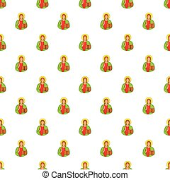 Jesus Christ pattern, cartoon style - Jesus Christ pattern....