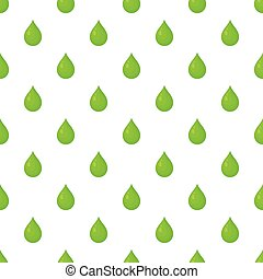 Green drop pattern, cartoon style