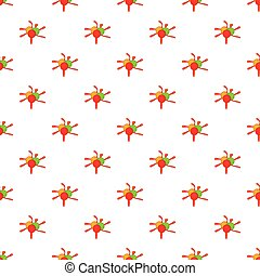 Colorful paintball blob pattern, cartoon style - Colorful...