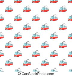 Electric train pattern, cartoon style - Electric train...