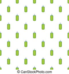 Green air freshener aerosol bottle pattern. Cartoon...