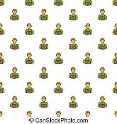 Soldier pattern, cartoon style - Soldier pattern. Cartoon...