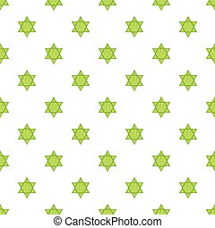 Star of David pattern, cartoon style - Star of David...