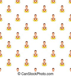 Croupier pattern, cartoon style - Croupier pattern. Cartoon...