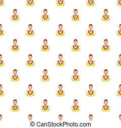 Croupier pattern, cartoon style - Croupier pattern. Cartoon...
