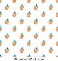Hand with gun pattern, cartoon style - Hand with gun...