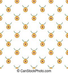 Third eye amulet pattern, cartoon style - Third eye amulet...