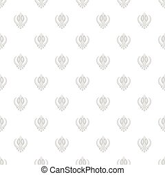 Sign sikhism pattern, cartoon style - Sign sikhism pattern....