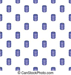 Barrel for gasoline pattern, cartoon style - Barrel for...
