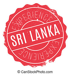 Sri Lanka stamp. Grunge design with dust scratches. Effects...
